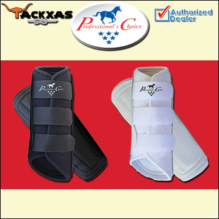 BLACK WHITE MED PROFESSIONAL CHOICE VENTECH BRUSHING HORSE LEG ALL PURPOSE BOOT