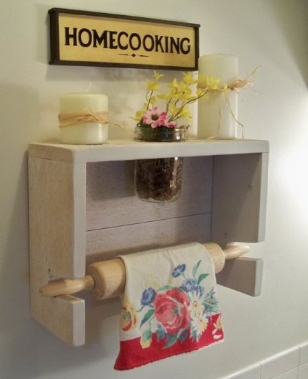 Country Cottage Rolling Pin Shelf