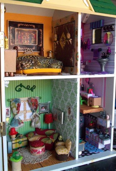 Upcycled Dollhouse With Furniture (Part 1)
