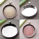 50PCS /Pendant Blank/Pendant Settings/Diameter25mm/MIX COLOR,nickel-free