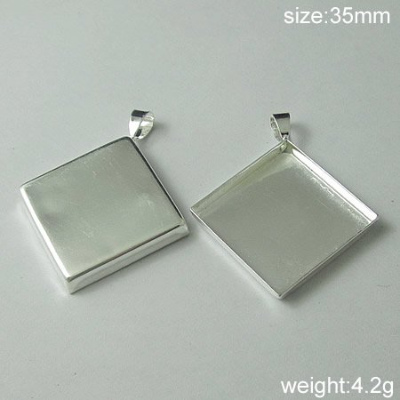100Pcs/pack,Hot sale,Prismatic, Brass Pendant Blank,35mm,ID5636