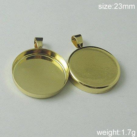 100s/pack,Hot sale,Circular, Brass Pendant Blank,23mm,ID5562