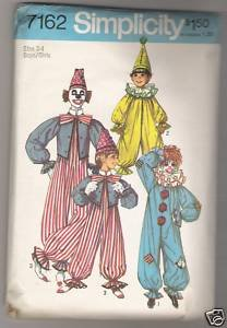 Boys' and Girls' Clown Costume Simplicity #7162 Sewing Pattern