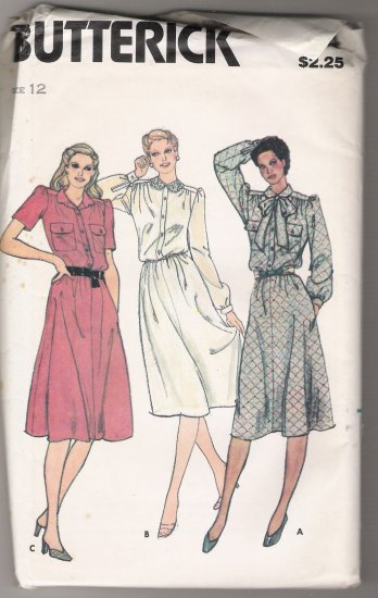 Misses' Dress and Tie Butterick Sewing Pattern #3014