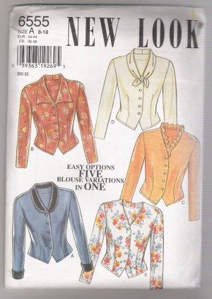 Misses' Blouses Simplicity Sewing Pattern #6555