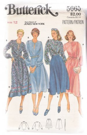 Misses' Blouse & Skirt Butterick #5665 Sewing Pattern