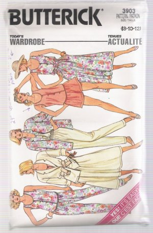 Misses' Jacket, Skirt, Pants, Shorts & Top Butterick #3903 Sewing Pattern