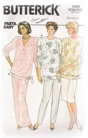 Misses' Maternity Top, Skirt & Pants Butterick #4480 Sewing Pattern