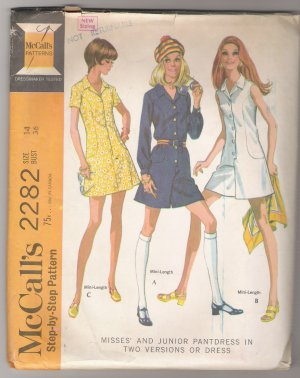 Misses' or Junior Pantdress in Two Versions or Dress McCall's #2282 Sewing Pattern