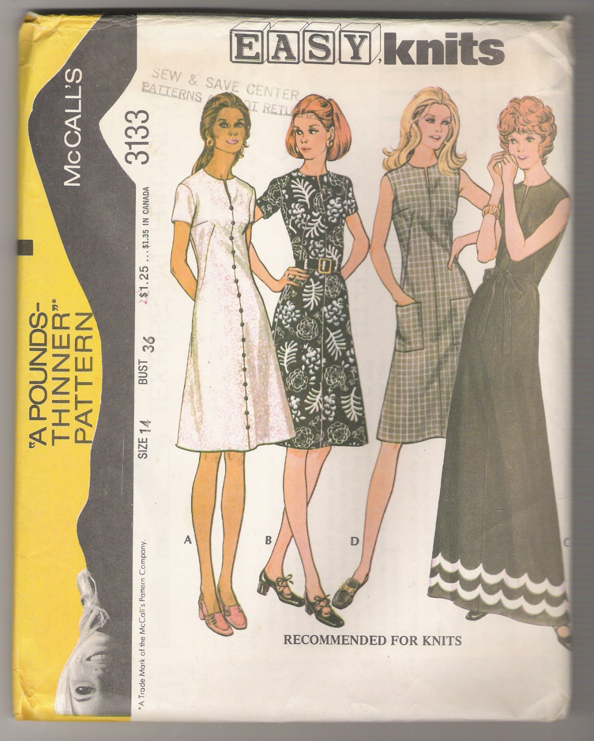 Misses' Dress McCall's #3133 Sewing Pattern