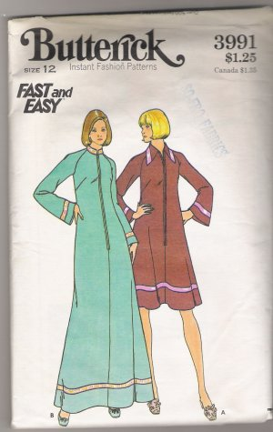 Misses' Robe Butterick #3991 Sewing Pattern