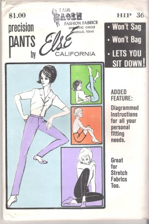 Precision Pants by Else of California Sewing Pattern Hip 36