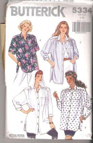 Misses' / Misses' Petite Shirt Butterick #5334 Sewing Pattern