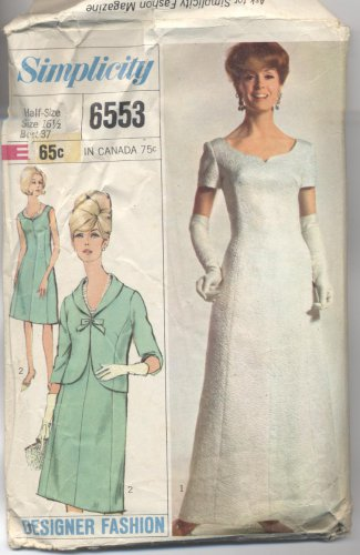 Misses' & Women's Dress Simplicity #6553 Sewing Pattern