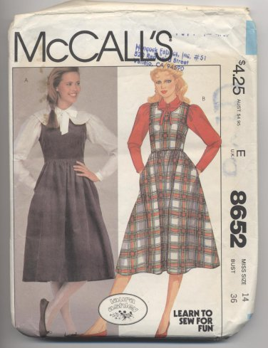 Misses' Jumper and Blouse McCall's #8652 Sewing Pattern