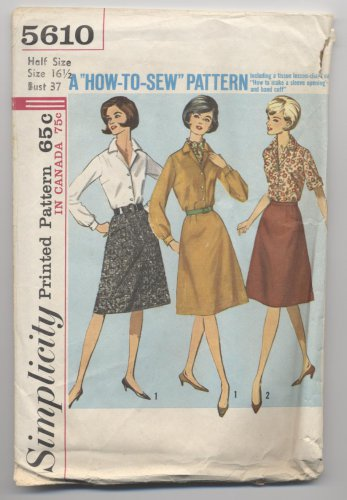 Misses Womens Skirt and Blouse Simplicity #5610 Sewing Pattern