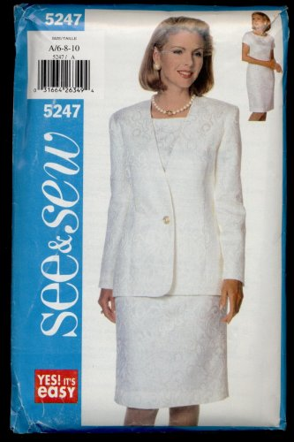 Misses' Jacket & Dress Butterick #5247 Sewing Pattern
