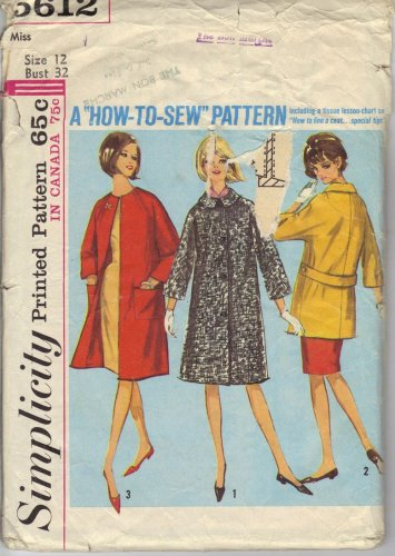 Misses' Coat in Two Lengths Simplicity #5612 Sewing Pattern
