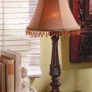 Beaded Leaf-Motif Lamp