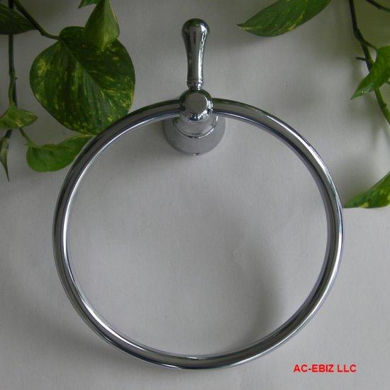 """Pegasus 8"""" Diameter Towel Ring & Robe Hook Chrome New"""