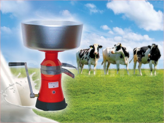 MILK CREAM SEPARATOR 80L/h HAND-OPERATED FREE USA SHIPPING!!