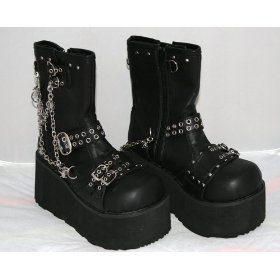 Gothic Punk Demonia Black Boots New Variety choice