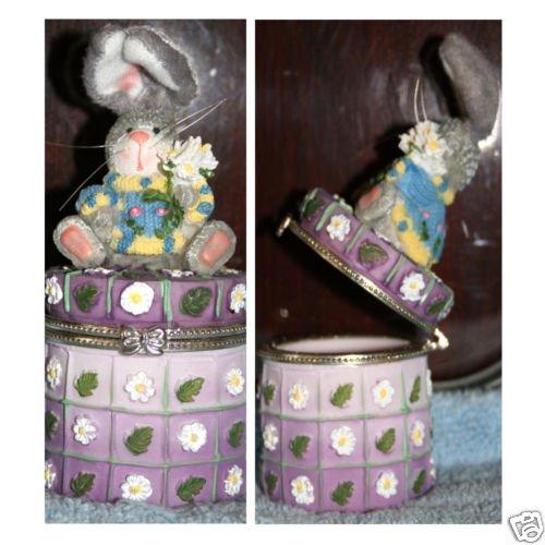 "Bunny Trinket Box 6"" Tall"