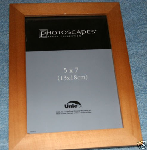 Wooden Photo Frames TWO 5 x 7 NIB each with backstand