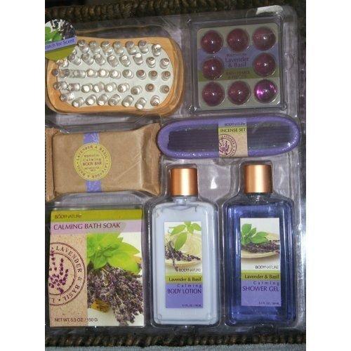 Aromatherapy Bath Set Purple Lavender & Basil