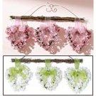 Pink Heart Wreath Trio - Pink Trio by Avon