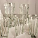 Old Fashioned Soda Fountain Malts Glassware set of 5