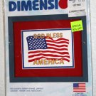 God Bless America Stamped Cross Stitch Kit Dimensions