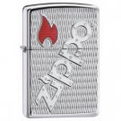 ZIPPO LOGO HIGH POLISH CHROME ARMOR LIGHTER BOLT