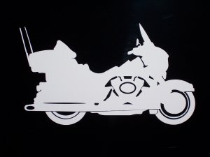 "Harley Electra/Ultra Classic Vinyl Logo 3 1/2"" x 6"""