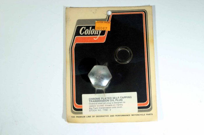 COLONY CHROME PLATED SELF-TAPPING TRANSMISSION OIL PLUG
