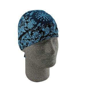 ZAN FLYDANNA HEADWRAP/DOO RAG/SKULLCAP BLUE PAISLEY