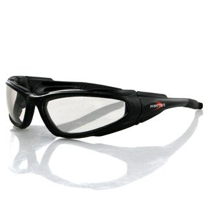BOBSTER LOW RIDER SUNGLASSES CLEAR ANTI-FOG LENS BLACK