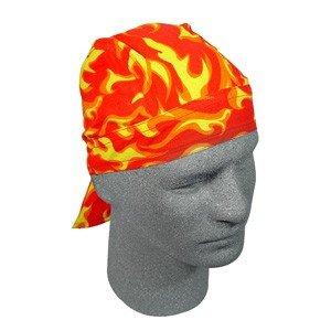 ZAN FLYDANNA HEAD WRAP/DOO RAG/SKULL CAP MODERN FLAME