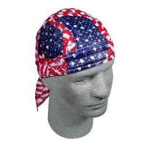 ZAN VENTED SPORT FLYDANNA/HEAD WRAP/DOO AMERICAN FLAG