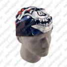 "ZAN ROAD HOG BIKER HEAD WRAP/DOO RAG ""STARS & STRIPES"""