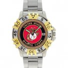 CHROME MILITARY WATCH US MARINES MEN'S 2-TONE DIVING