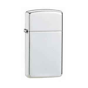 ZIPPO HIGH POLISH STERLING SILVER SLIM LIGHTER