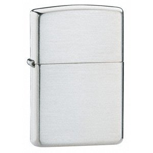 ZIPPO BRUSHED FINISH STERLING SILVER LIGHTER