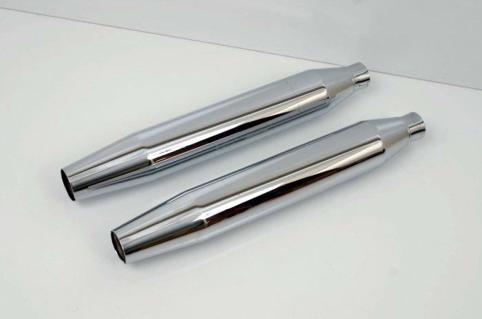 HARLEY STOCK SLIP-ON MUFFLERS/PIPES SOFTAIL '07 - '09