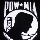 "POW * MIA Vinyl Logo 10"" High x 7 1/4"" Wide"