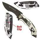 MATRIX STAINLESS STEEL FOLDING POCKET KNIFE BLACK
