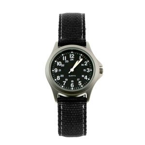 RAM WATCHES RUGGED MILITARY 24 HOUR FIELD WATCH BLACK