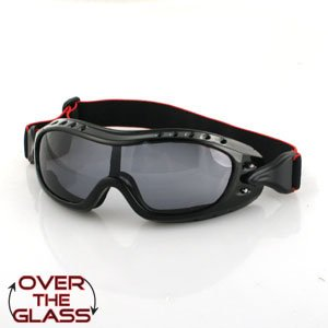 BOBSTER NIGHT HAWK OTC GOGGLE SMOKE ANTI-FOG LENS BLACK