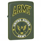 ZIPPO BRUSHED CHROME LIGHTER W/US ARMY EMBLEM