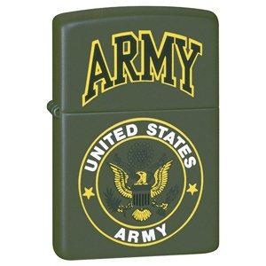 ZIPPO BRUSHED CHROME LIGHTER W/US ARMY EMBLEM